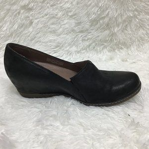 Dansko Slip On Black Leather Shoes